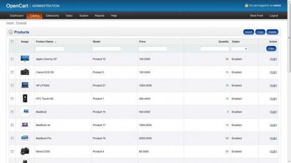 ตัวอย่างเว็บระบบร้านขายของแบบครบวงจร พร้อมระบบ admin (ส่วน Admin)